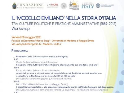 Secondo seminario sul modello emiliano nella storia d'Italia