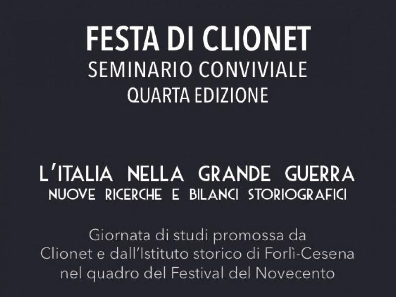 Quarta Festa di Clionet. L'Italia nella Grande Guerra